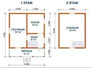 Садовый Дом 6х7 сруб из бруса установка в Витебске и р-не - foto 1